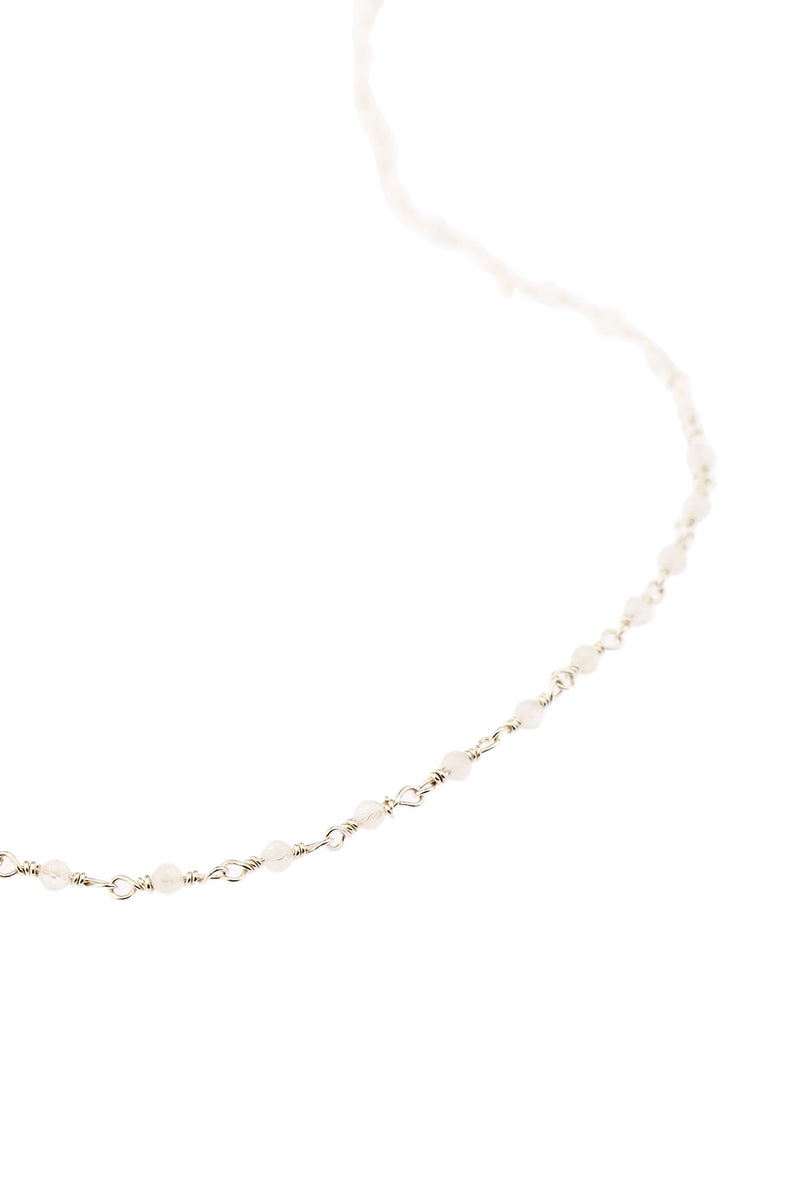 Gemstone Links Silver Necklace