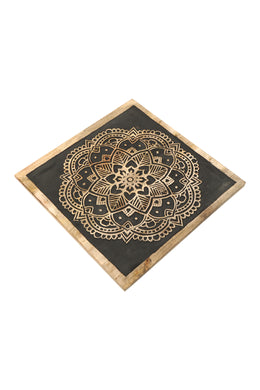 Black Base Carved Mandala Wall Art