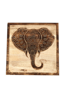 Carved Elephant Wall Art