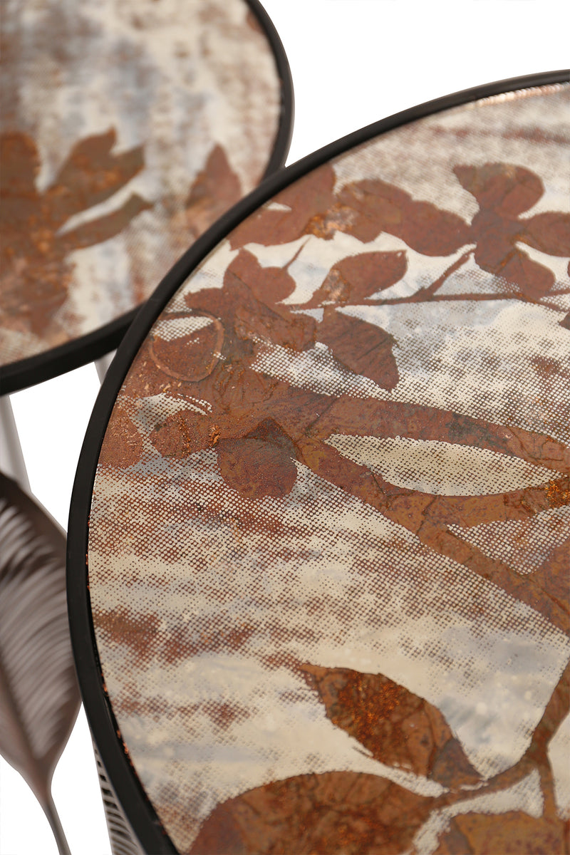 Leaf Side Tables Set of 2