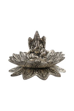 Lotus Flower Ganesh Incense Stand