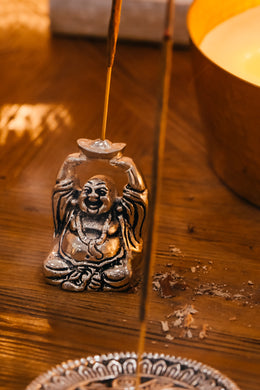 Laughing Buddha Incense Stand