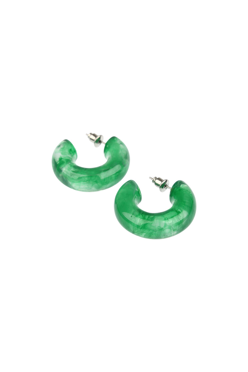 Wide Tube Hoop Earrings