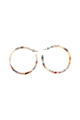 Multicolour Wide Hoop Earrings