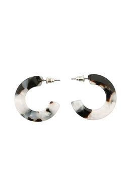 Ocelot Flat Hoop Earrings