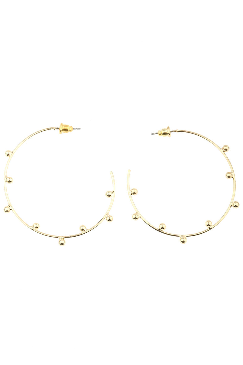 Ethnic Dots Fine Hoop Earrings