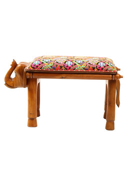 Upholstered Elephant Bench