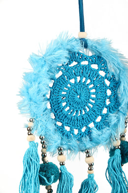 Light Blue Crochet Dream Catcher