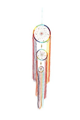 Rainbow Tassel Dream Catcher