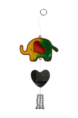 Heart Mirror Elephant Sun Catcher