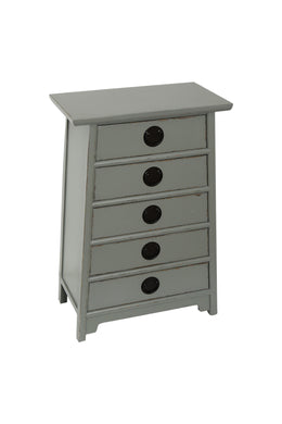 Grey Angle Tallboy Drawers