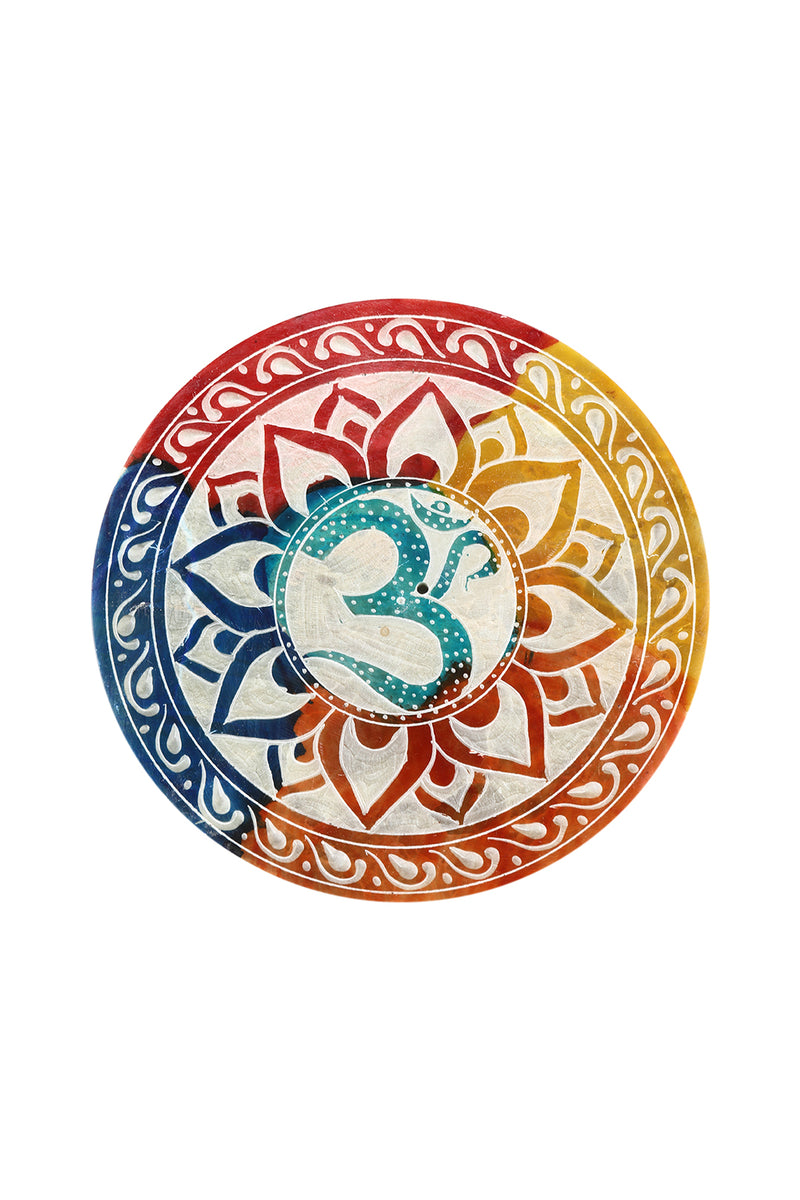Rainbow Carved Incense Plate