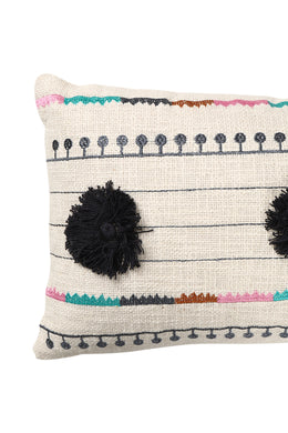 Bolero Pom Pom Embroidered Cushion
