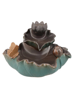 Green Lotus Backflow Incense Burner Set