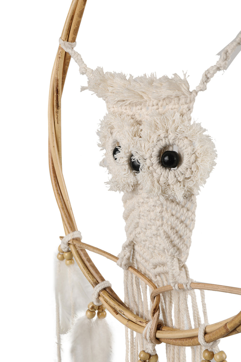 Crochet Owl Wall Dreamcatcher