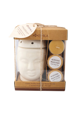 Ceramic Buddha Wax Melt Burner Set