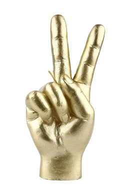 Gold Peace Hand Sign Candle