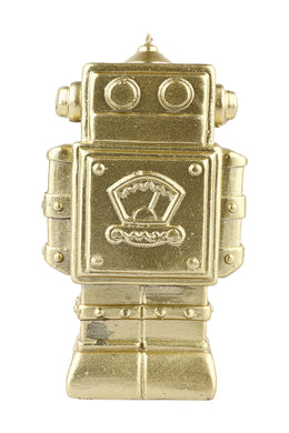 Gold Robot Candle