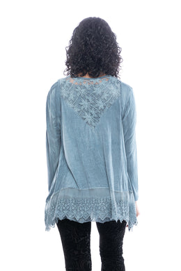 Layered Lace Trim Top