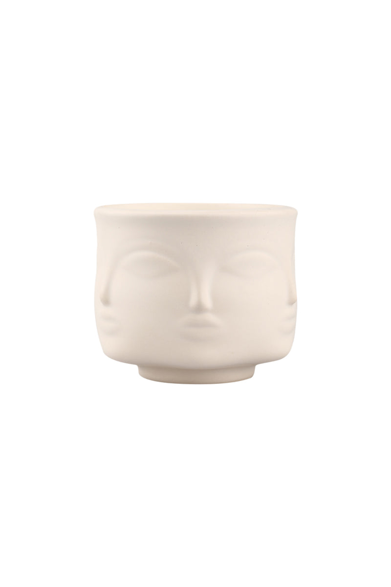 Ceramic Face Candle