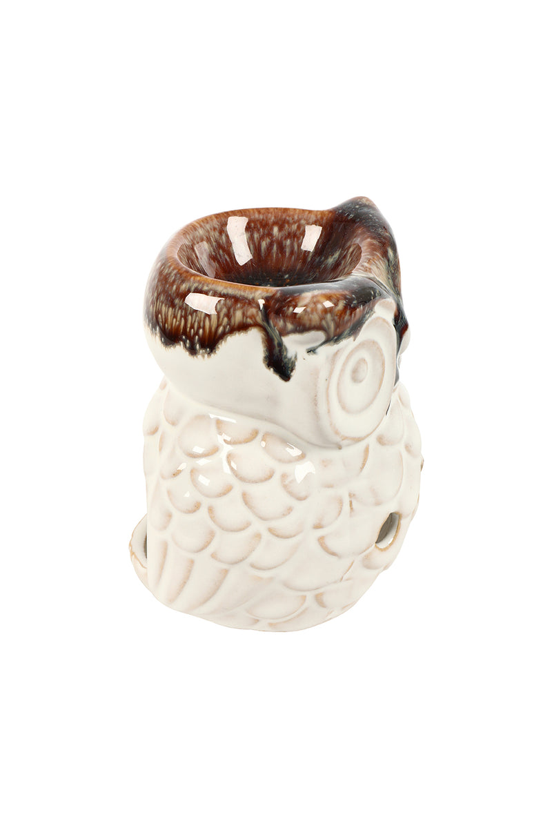 Ceramic Owl Oil Burner