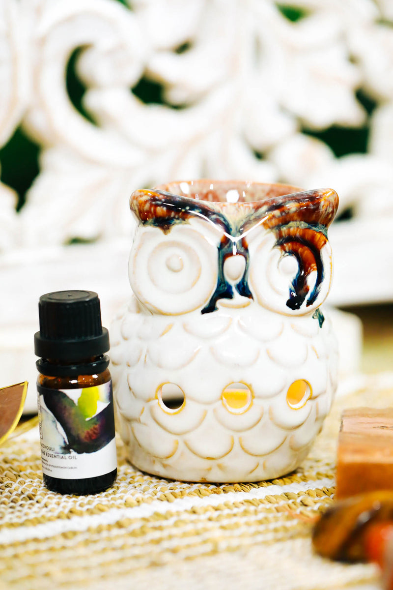 Assorted Ceramic Owl Oil Burner