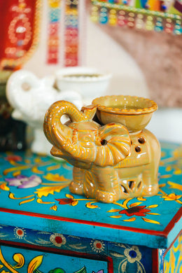 Assorted Ceramic Elephant Oil Burner