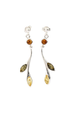 Baltic Amber Drop Silver Earrings