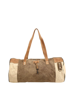 Key Canvas & Leather Duffle Bag