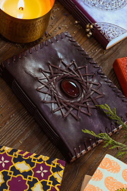 Small Leather Star & Stone Journal