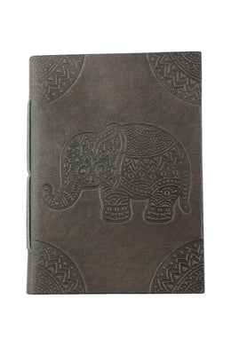 Embossed Leather Elephant Journal