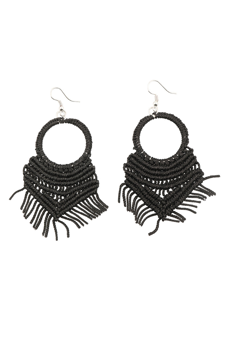 Crochet Ring Earrings