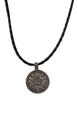 Mandala on Rope Necklace