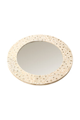 Akil Inlay Round Mirror