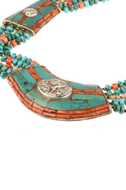Vintage Tibetan Beaded Necklace