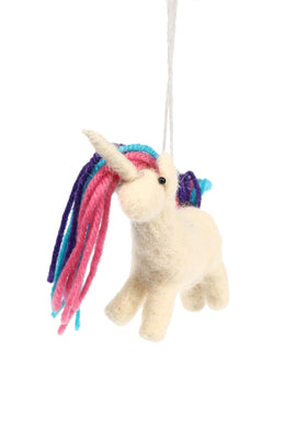 Unicorn Wool Hanging Decoration