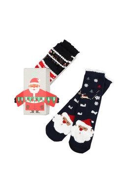 Womens Santa Socks 3 Pack