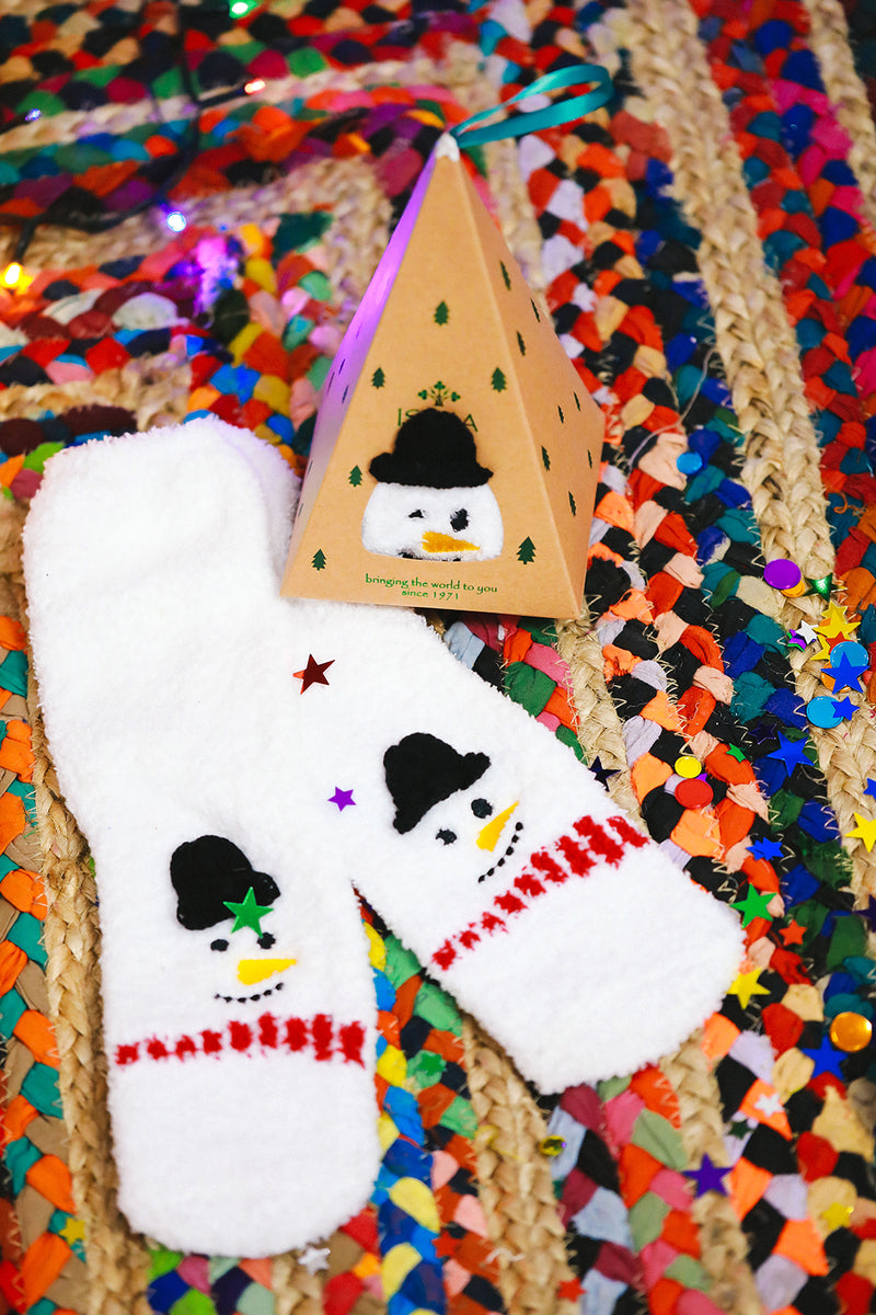 Snowman Triangle Box Womens Socks