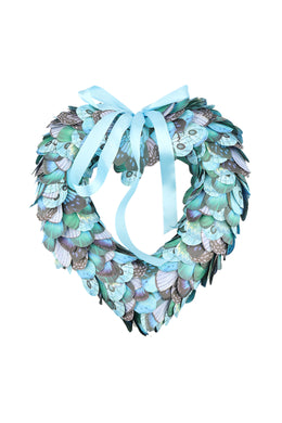 Paper Butterfly Heart Wreath