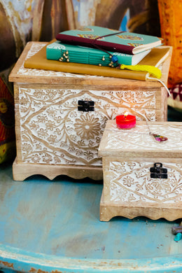 Mango Wood Mehrab Box