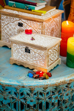 Mango Wood Mehrab Box - Small