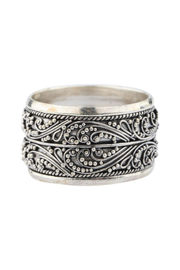 Double Band Balinese Silver Ring