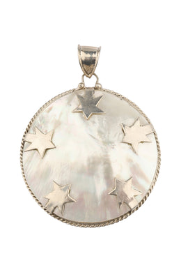 Mother of Pearl Stars Silver Pendant