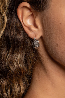 Balinese Basket Filigree Hoop Silver Earrings