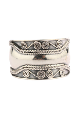 Roped Swirl Silver Ring