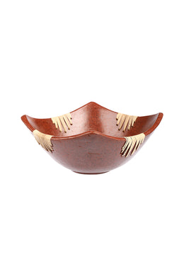Medium Lombok Terracotta & Rattan Bowl