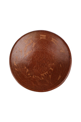 Large Lombok Terracotta & Rattan Bowl
