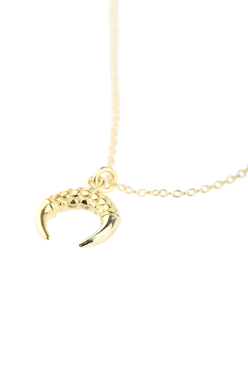 Dainty Gold Plated Crescent Horn Silver Necklace