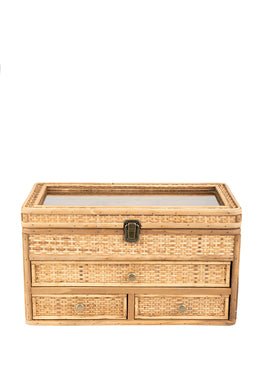Rattan Drawers Jewellery Box