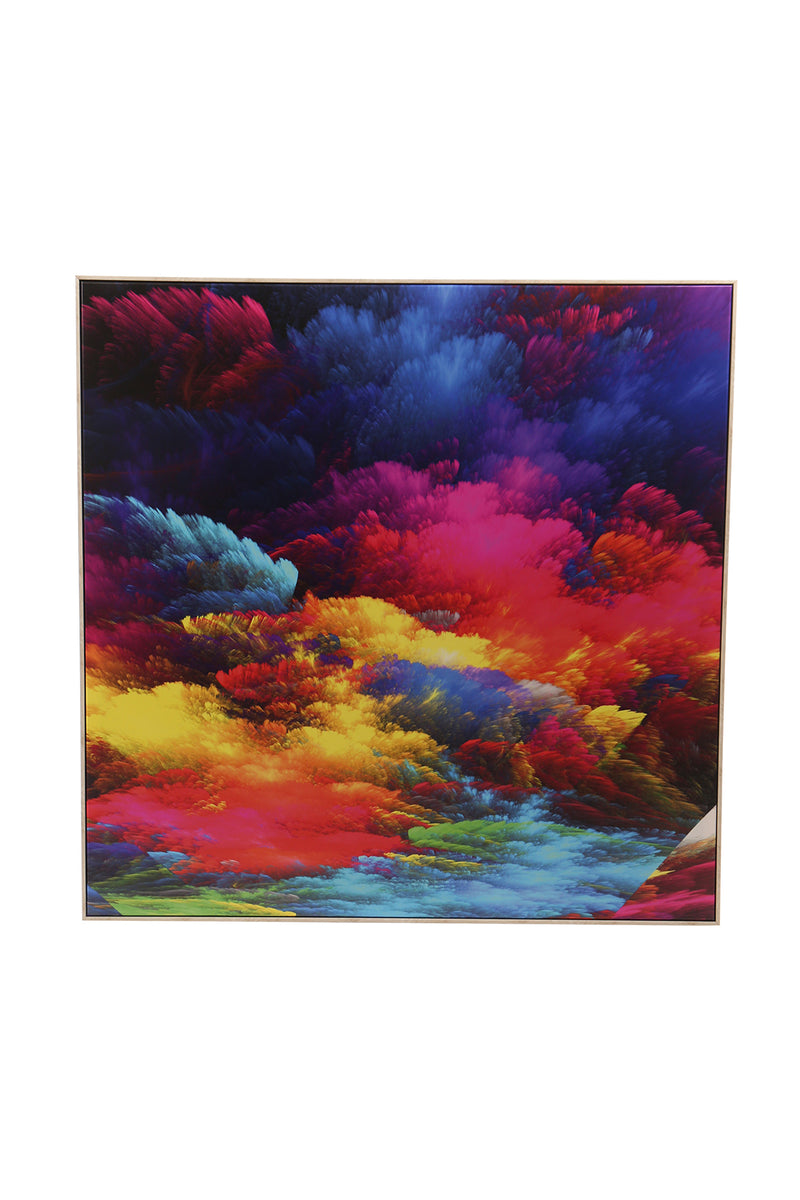 Colourful Clouds Framed Canvas Print